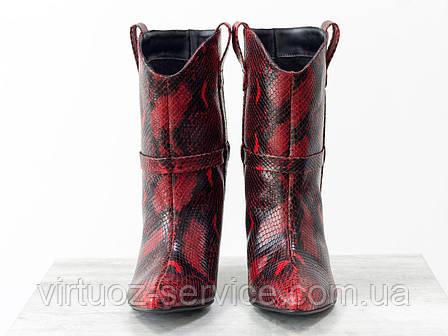 Ботинки женские Gino Figini Б-1902-11из натуральной кожи 38 Красный, фото 2