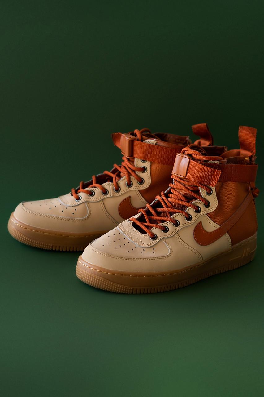 Мужские кроссовки Nike Air Force Hight Brown, Реплика