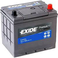Аккумулятор 65Ah-12v Exide PREMIUM (EA654) Азия, (-/+), 12В, 65Ач, EN580A