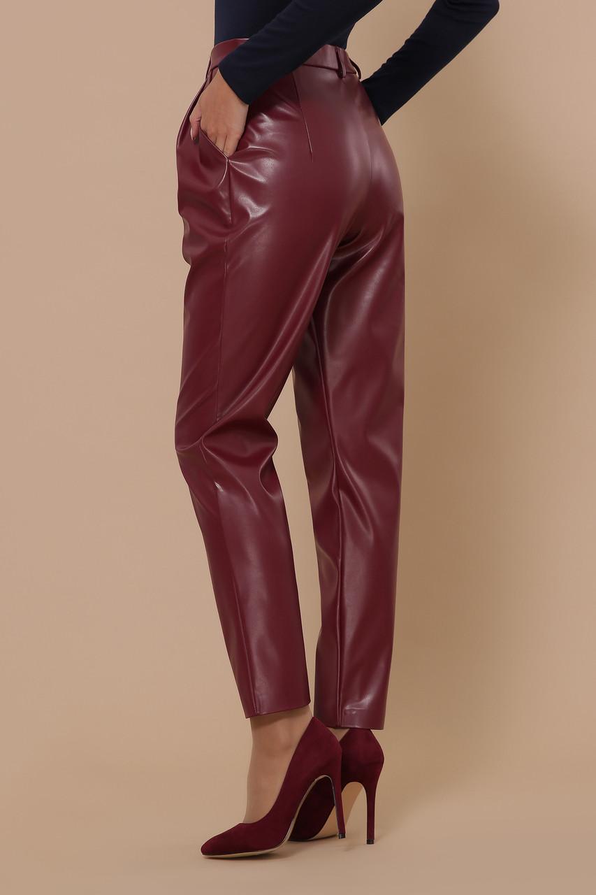 Женские брюки из эко кожи бордо Бакси К