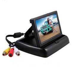 Монитор для камеры заднего вида Terra LCD Color 4.3 дюйма Черный FL-08, КОД: 293195