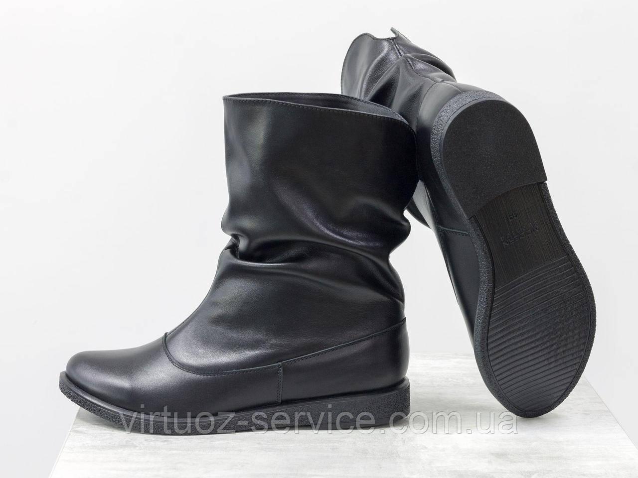 Ботинки женские Gino Figini М-21из натуральной кожи 37 Черный