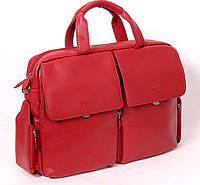 Деловая женская сумка SHEFF красная натуральная кожа