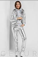Утеплённый костюм тройка со вставками из плащевки АО/-196/1 - Металлик, фото 1