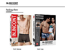 Мужские стрейчевые боксеры бренда IN.INCONT Арт.8122, фото 3