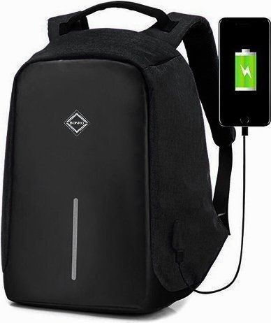 Рюкзак антивор Bonro с USB 17 л Цвет черный.