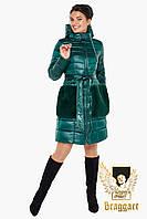 Воздуховик женский демисезонный с мехом на карманах Braggart Angels Fluff 31845J