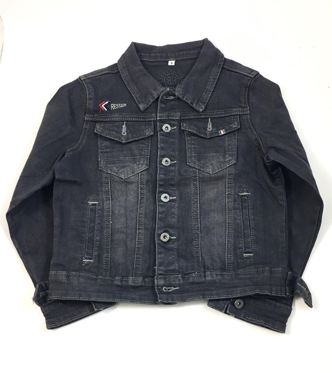 Джинсовая куртка для мальчика Resser Стайл, серый (р.8,9,10,11 лет)