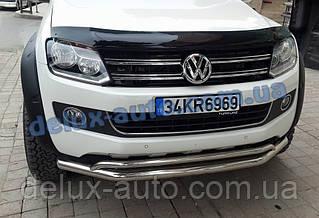 Защита переднего бампера Original Volkswagen Amarok Дуга передняя ORG нержавейка на Фольксваген Амарок 2010+