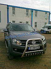 Защита переднего бампера кенгурятник высокий на Volkswagen Amarok Кенгур высокий хром на Фольксваген Амарок