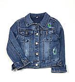 Джинсовая куртка для девочки Resser МОМ Пайетки (р.4,5,6,8 лет)