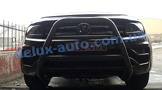 Защита переднего бампера кенгурятник высокий на Volkswagen Amarok Кенгур высокий черный на Фольксваген Амарок