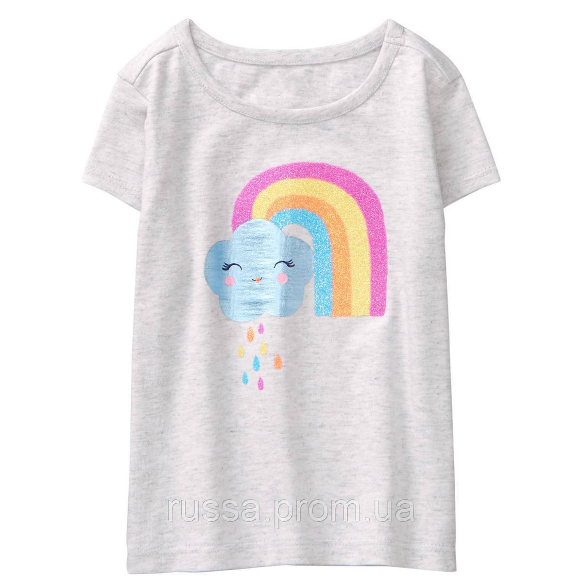Детская летняя блестящая футболочка Gymboree для девочки