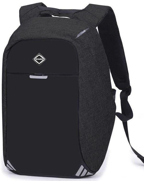Рюкзак антивор Bonro с USB 20 л Цвет темно-серый.