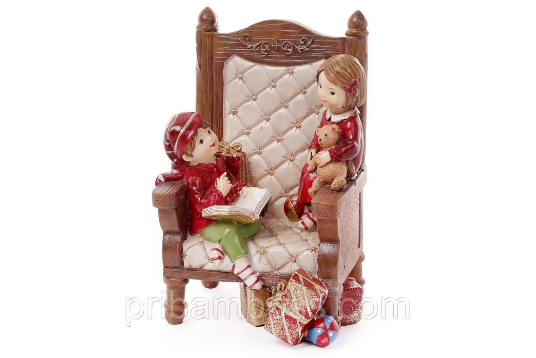 Декоративная статуэтка Детки в кресле, 20см