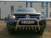 Защита переднего бампера кенгурятник низкий на Volkswagen Amarok 2010+ Кенгур 70D низкий на Фольксваген Амарок