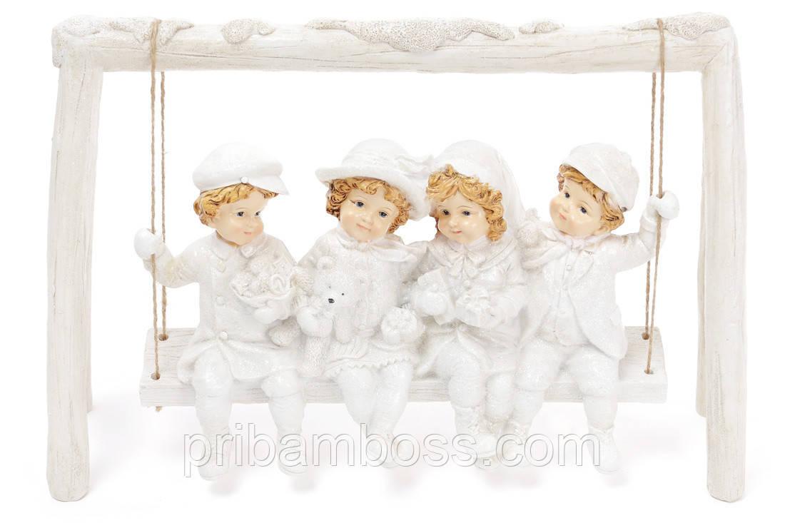 Декоративная статуэтка Детки на качели, 38.5см