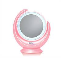 Косметическое зеркало GOTIE GMR-318R LED розовое