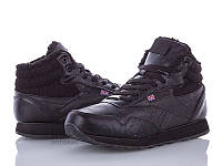 Подростковые черные кроссовки (р36-41)