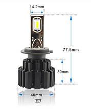Світлодіодна лампа P9 цоколь HB3, CREE GSP 6500К, 13600 lm 50W, 9-36В, фото 3