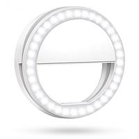 Светодиодное Кольцо вспышка для селфи телефона с подсветкой 3 режима
