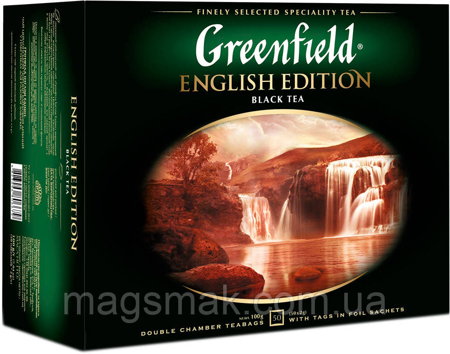 Чай Greenfield English Edition, 50 пакетов