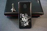 Чехол бампер силиконовый для Meizu M6s Мейзу М6с с рисунком