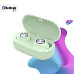 Наушники беспроводные блютуз гарнитура Bluetooth наушники 5.0 Wi-pods TW60. Зеленые, фото 3