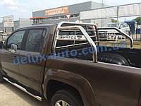 Защита кузова Ролл-бар на пикап для Фольксваген Амарок Задняя дуга в кузов RollBar на Volkswagen Amarok 2010+