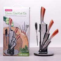 Набор ножей и ножницы Kamille на акриловой подставке 5 предметов, фото 1