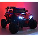 Дитячий електромобіль Джип M 3804 EBLR-3, BUGGY, Шкіряне сидіння, EVA колеса, червоний, фото 10