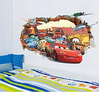 Интерьерная наклейка  Молния Маквин 3D (70х50см)