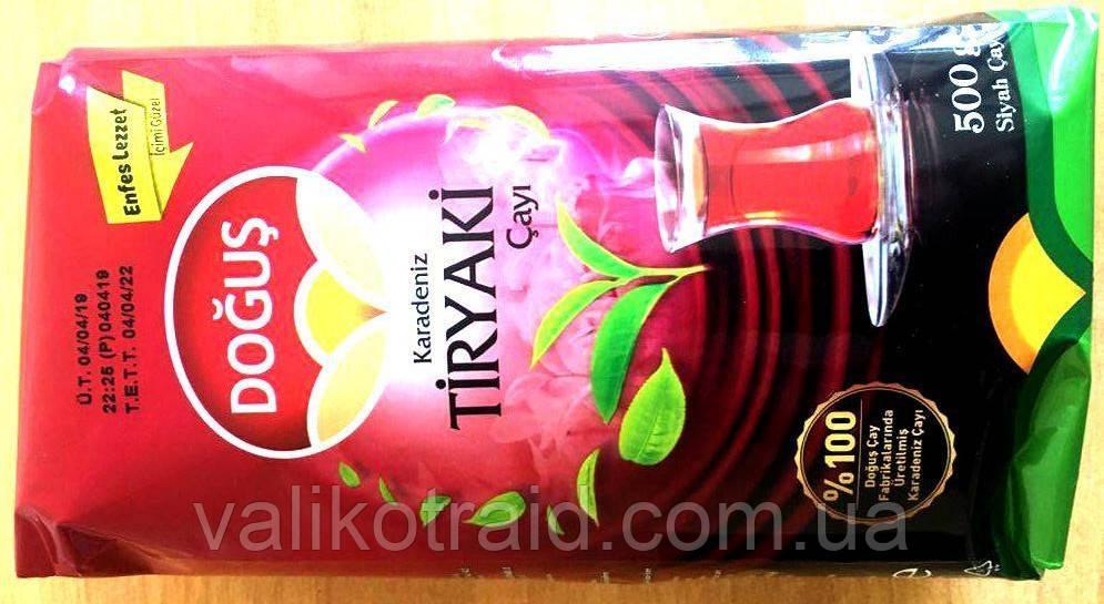Чай турецкий DOGUS чёрный мелколистовой  Tiryaki Cayi 500г