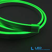 Светодиодный неон Rishang 2835/120 24В IP66 Зеленый