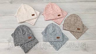 Набор для девочек шапка и хомут подкладка фліс. р. 54, упаковка 5 шт