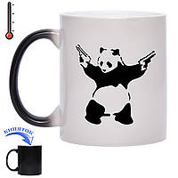 Чашка хамелеон Gangsta Panda 330 мл