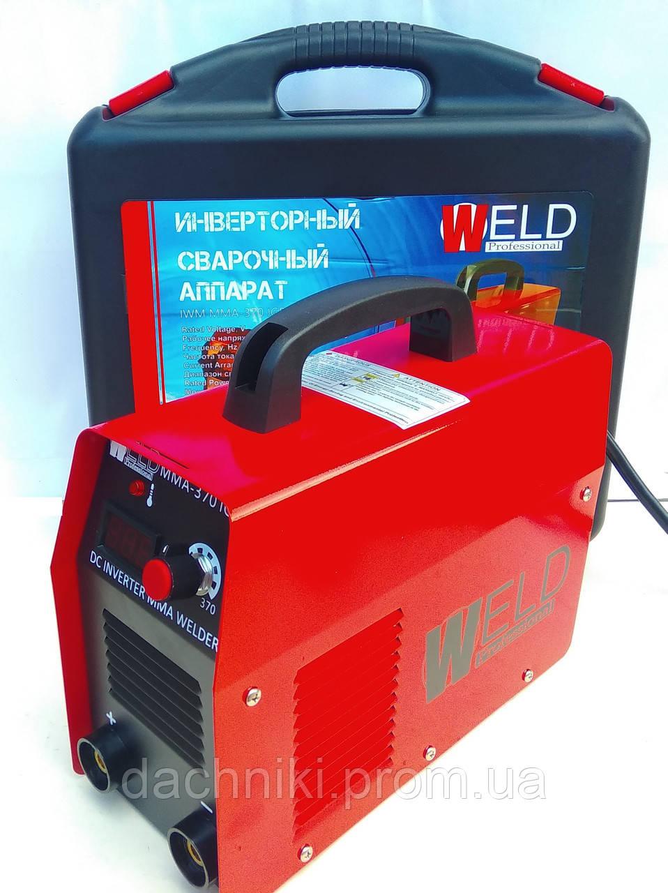 Сварка инверторная Weld 370 в кейсе с электронным табло