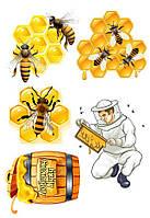 """Съедобная сахарная/вафельная пищевая печать лист А4 """"Пчеловод"""""""