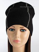 Теплая женская шапка Саваж цвет черный