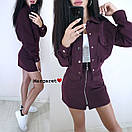 Женский юбочный костюм с жакетом оверсайз 9ks214, фото 5