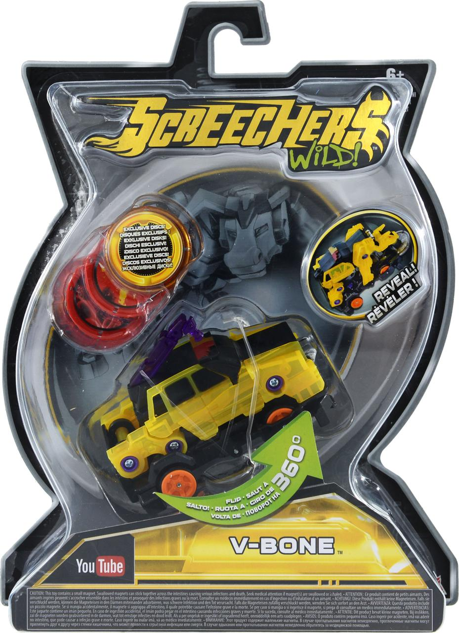 Screechers Wild L2 V-Bone Ві-Бон ( Машинка-трансформер Дикий Скричер L2 Ви-Бон Желтый бык )