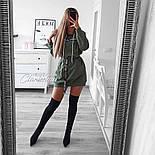 Жіноча стильна толстовка-плаття (в кольорах), фото 3