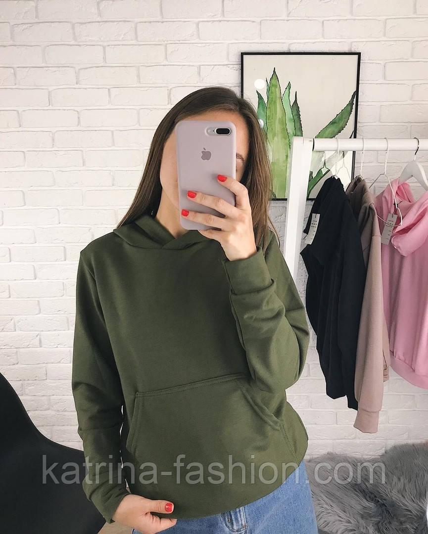 Женское стильное худи с карманами (в расцветках)