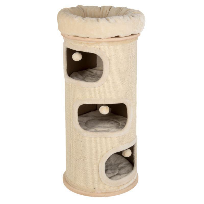 Домик в виде бочки для котов  Eco Premium XXL с лежанками и когтеточкой