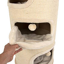 Домик в виде бочки для котов  Eco Premium XXL с лежанками и когтеточкой, фото 3