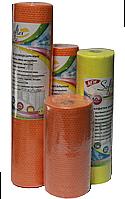 Салфетки Softex Home 20х20см  универсальные оранжевые сетчатые в рулоне с перфорацией (плотность 55 гр/м²)