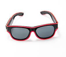 🔝 Светящиеся неоновые светодиодные LED очки, клубные, Розовые, для дискотеки и вечеринки, с доставкой | 🎁%🚚