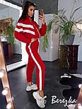 Женский стильный теплый костюм на молнии с лампасами (в расцветках), фото 4