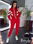 Женский стильный теплый костюм на молнии с лампасами (в расцветках), фото 6