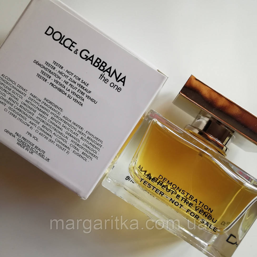 Dolce & Gabbana The One 75 мл TESTER женский